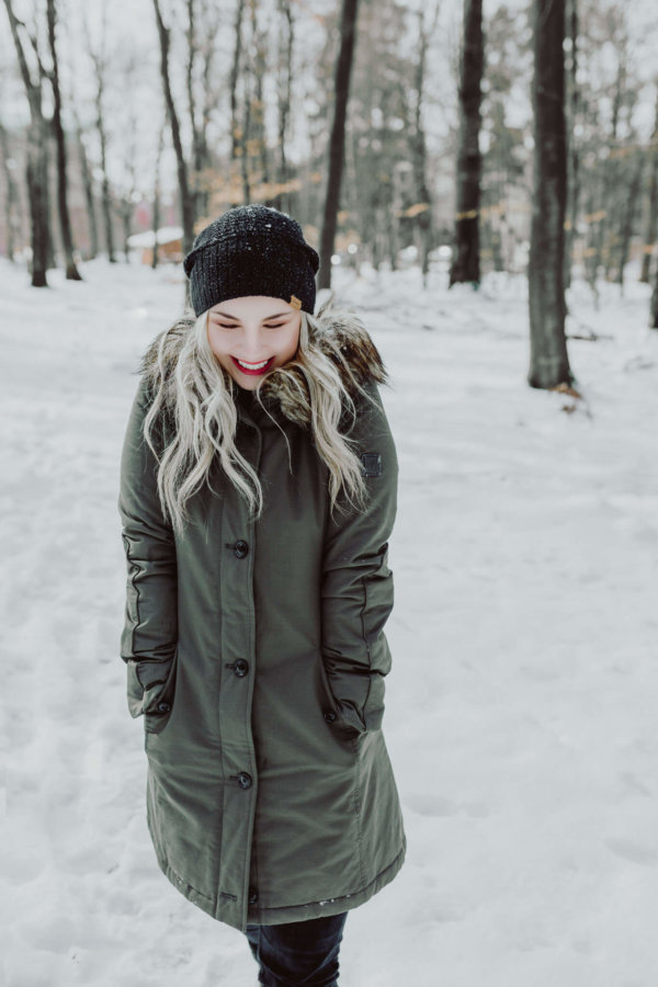 Frauen Fotoshooting Winter